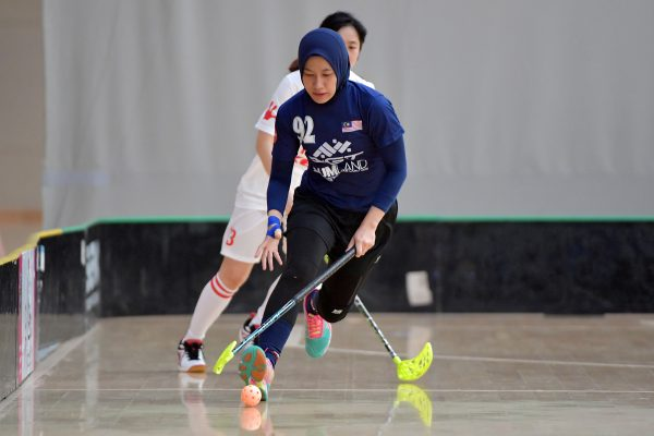 World Floorball Championships 2017 Qualification for Asia-Oceania Region - Malaysia v China at ASB Sports Centre , Wellington, New Zealand on Sunday 5 February 2017.
