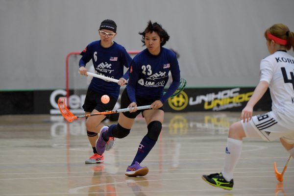World Floorball Championships 2017 Qualification for Asia-Oceania Region - Korea v Malaysia at ASB Sports Centre , Wellington, New Zealand on Wednesday 1 February 2017.